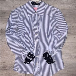 Lily Pulitzer Pinstripe Button Down